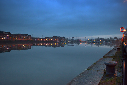 Blue at Preston Docks | by Tony Worrall