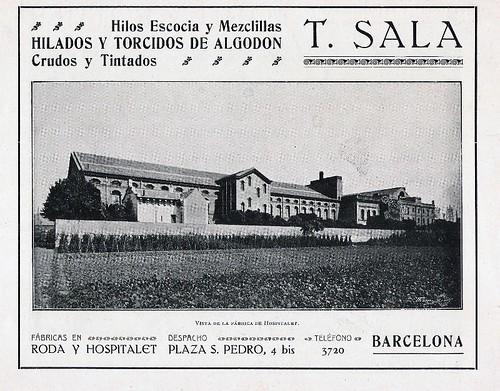 Publicitat filatura Tecla-Sala-1916