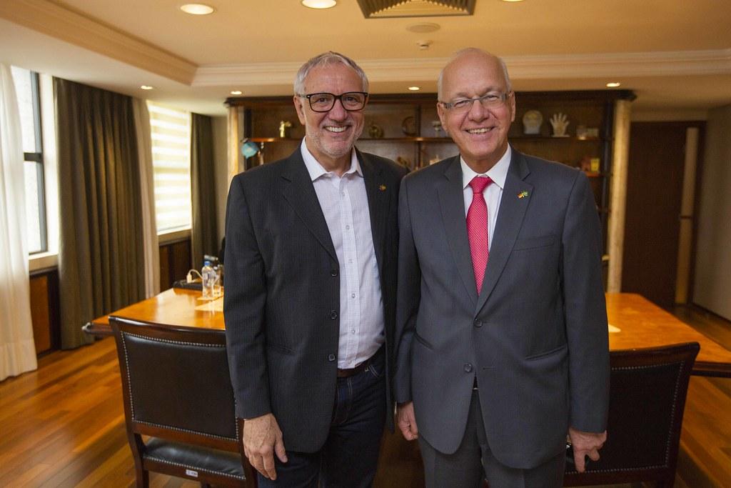 Visita do Embaixador da Alemanha no Brasil, Dr. Georg Witschel & Consul Geral de SP, Sr. Axel Zeidler & Consul Honorário, Andreas F.H. Hoffrichter