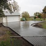 Salt finish driveway & parking area.