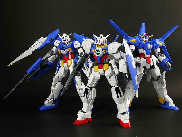 Gundam AGE-1, Gundam AGE-2, Gundam AGE-3