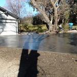 Salt finish driveway.