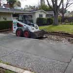 Driveway extension excavation.