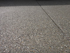 Pea Gravel Exposed Aggregate Concrete Close Up