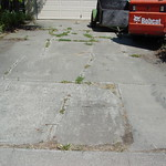 Old cracked driveway removal and replacement.